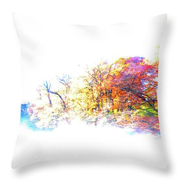 Autumn Colors Throw Pillow by Hannes Cmarits