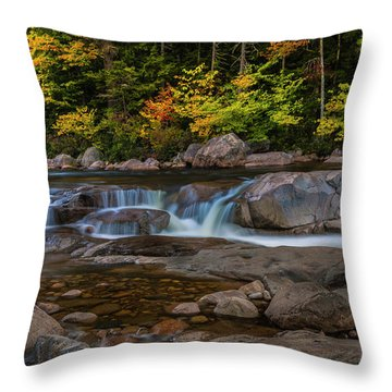 Throw Pillow featuring the photograph Autumn Colors In White Mountains New Hampshire by Ranjay Mitra