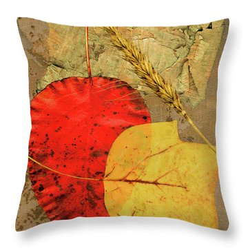 Throw Pillow featuring the painting Autumn Colors by John Dyess