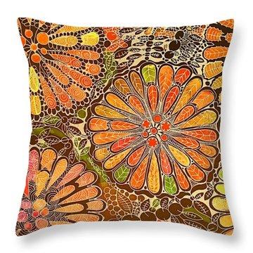 Autumn  Colors Mandalas  Throw Pillow