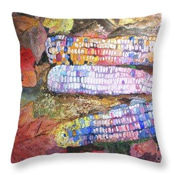 Autumn Corn Throw Pillow