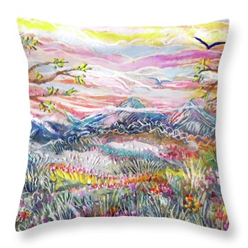 Autumn Country Mountains Throw Pillow