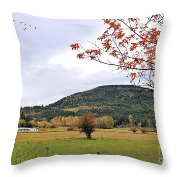 Autumn Country View Throw Pillow