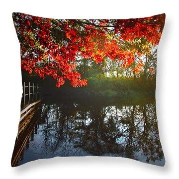 Autumn Creek Magic Throw Pillow
