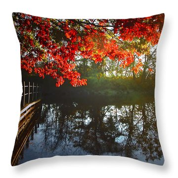 Autumn Creek Magic Throw Pillow