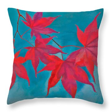 Autumn Crimson Throw Pillow