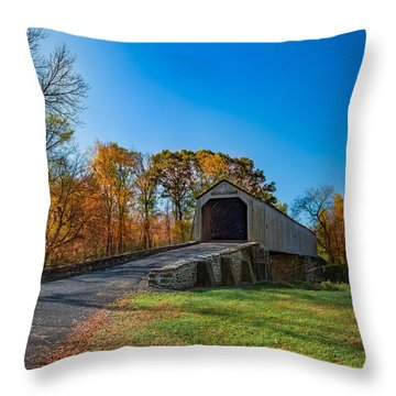 Autumn Crossing Throw Pillow