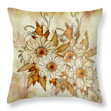 Autumn Daisys Throw Pillow