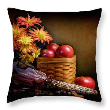 Autumn Throw Pillow by David and Carol Kelly