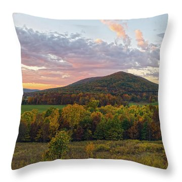 Autumn Dawn At Moodna Viaduct Trestle Panorama  Throw Pillow