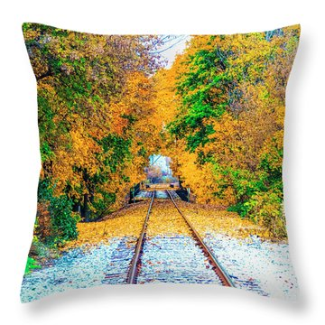 Throw Pillow featuring the photograph Autumn Days by Jim Lepard