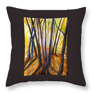 Throw Pillow featuring the painting Autumn Design by Anna  Duyunova