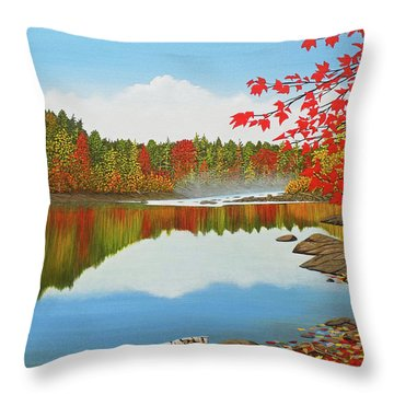 Throw Pillow featuring the painting Autumn Dream by Kenneth M Kirsch