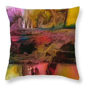 Throw Pillow featuring the painting Autumn Dream by Mary Sullivan