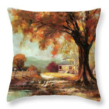 Autumn Dreams Throw Pillow