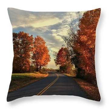 Throw Pillow featuring the photograph Autumn Drive by Kendall McKernon