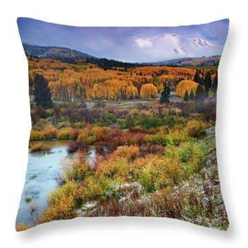 Autumn Dusting Throw Pillow