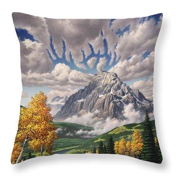 Autumn Echos Throw Pillow by Jerry LoFaro