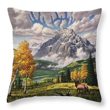 Woodpecker Throw Pillows