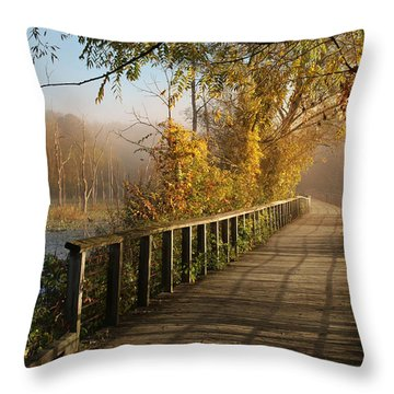 Autumn Emerging Throw Pillow