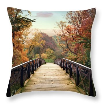 Throw Pillow featuring the photograph Autumn Encounter by Jessica Jenney