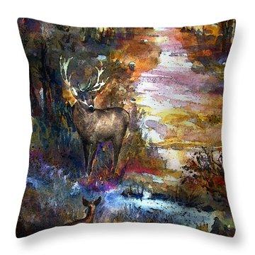 Autumn Encounter Throw Pillow