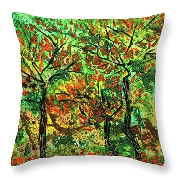 Autumn Throw Pillow by Erik Tanghe