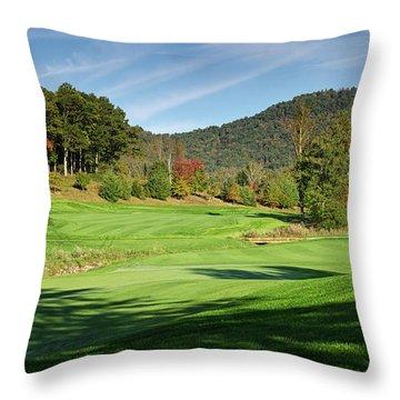 Autumn Fairway Throw Pillow