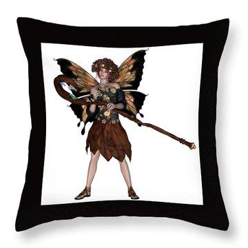 Autumn Fairy Throw Pillow by Corey Ford
