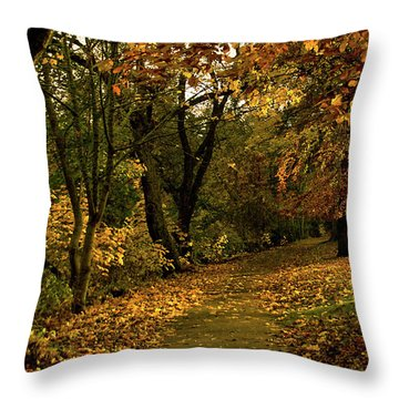 Autumn / Fall By The River Ness Throw Pillow