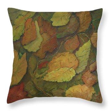 Autumn Falling Throw Pillow