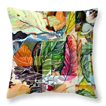 Autumn Falls Throw Pillow by Mindy Newman
