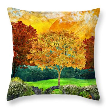 Autumn Fantasy Throw Pillow