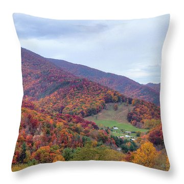 Autumn Farm Throw Pillow