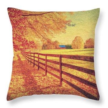 Autumn Fences Throw Pillow