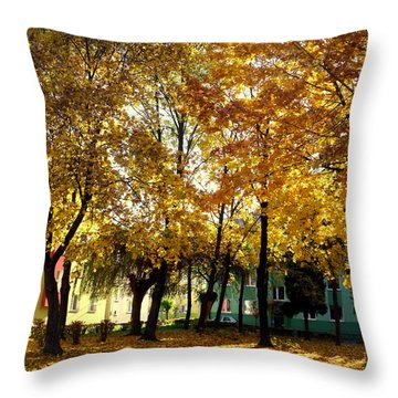 Autumn Festival Of Colors Throw Pillow