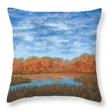 Autumn Field 01 Throw Pillow
