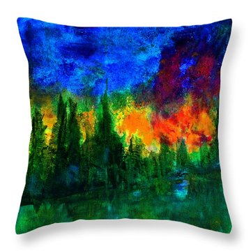 Autumn Fires Throw Pillow