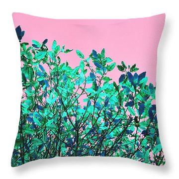 Throw Pillow featuring the photograph Autumn Flames - Pink by Rebecca Harman
