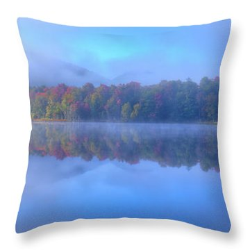 Throw Pillow featuring the photograph Autumn Fog Lifting by David Patterson