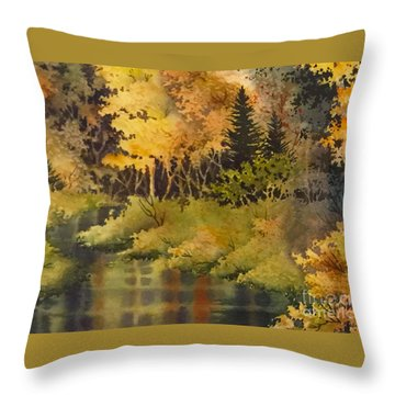 Autumn Forest II Throw Pillow