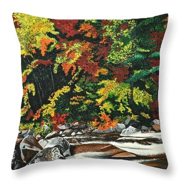 Autumn Frost Throw Pillow by Donna Blossom