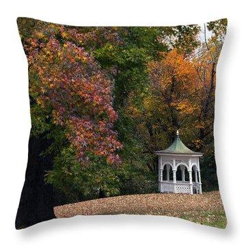 Autumn Gazebo Throw Pillow