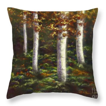 Throw Pillow featuring the digital art Autumn Ghosts by Amyla Silverflame