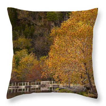 Throw Pillow featuring the photograph Autumn Glory In Beaver's Bend by Tamyra Ayles