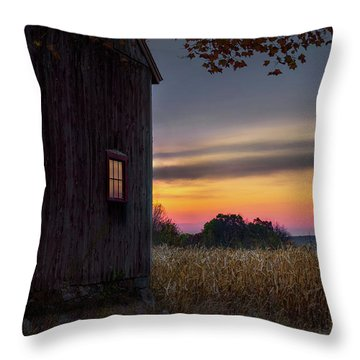 Throw Pillow featuring the photograph Autumn Glow by Bill Wakeley