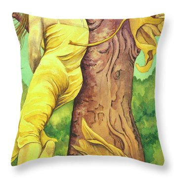 Autumn Grace Throw Pillow by Sheri Howe