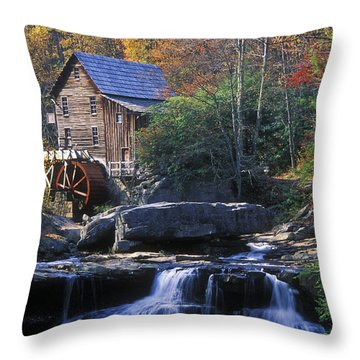 Autumn Grist Mill - Fs000141 Throw Pillow