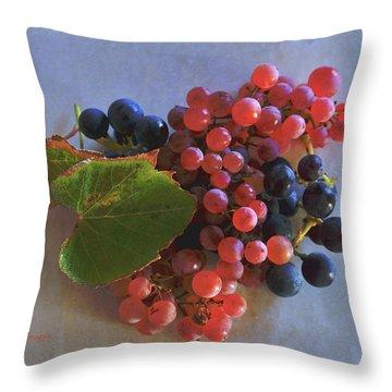 Autumn Harvest Grapes Throw Pillow