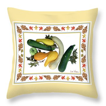 Throw Pillow featuring the digital art Autumn Harvest by Lise Winne